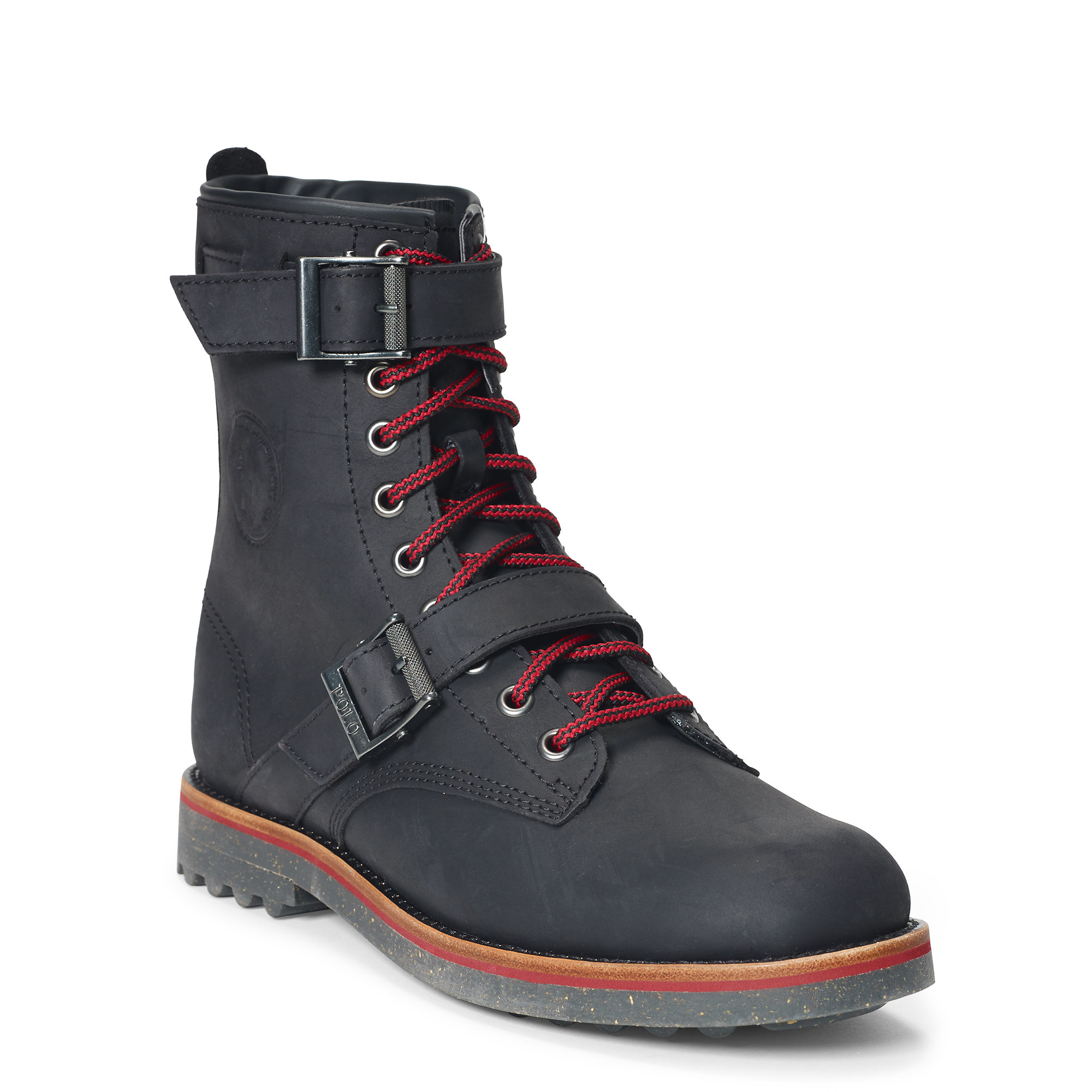 Polo Ralph Lauren Maurice Waxy Leather Boot In Gray For