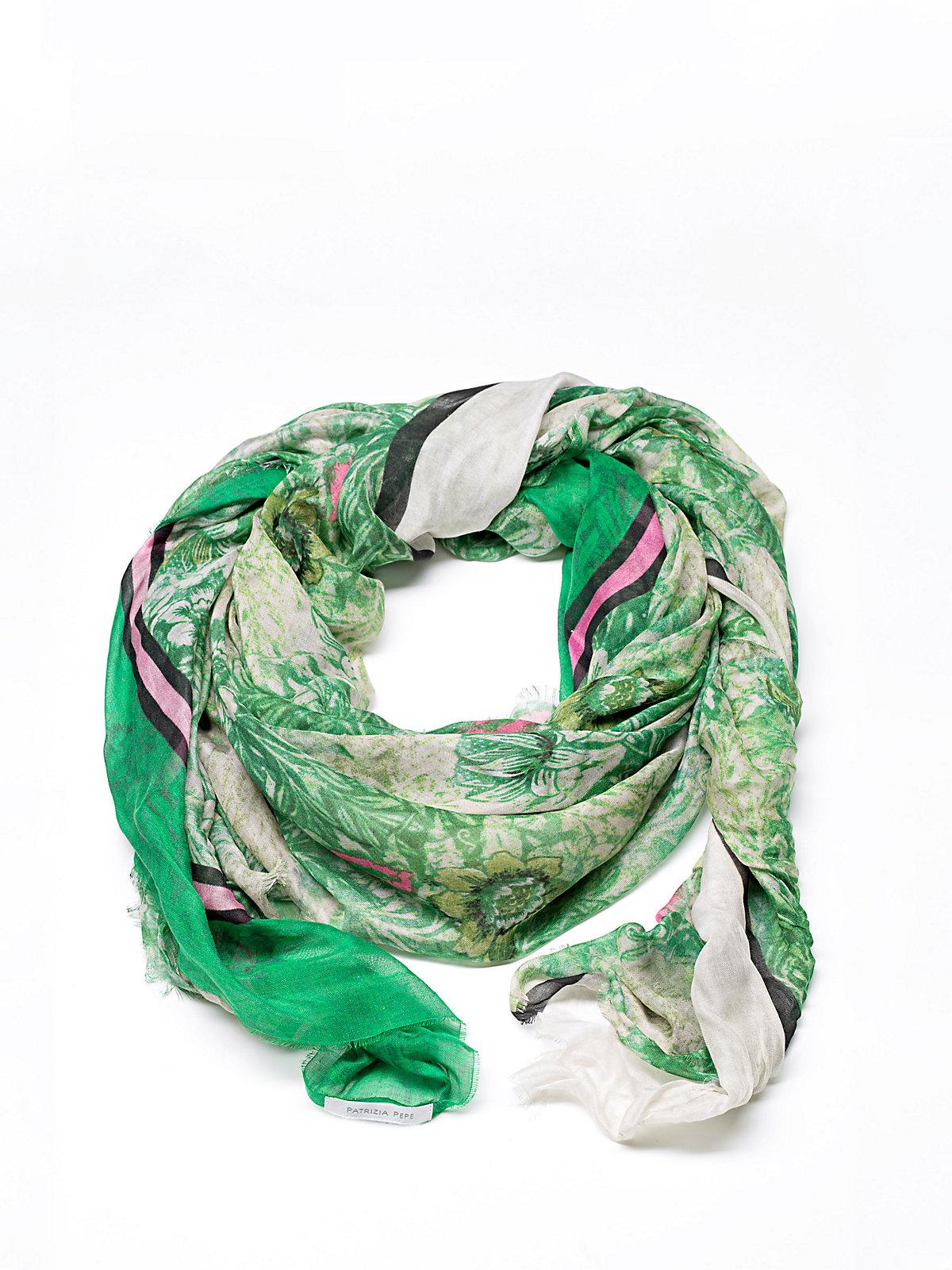 Patrizia pepe Foulard Scarf In Printed Modal Silk in Green ...
