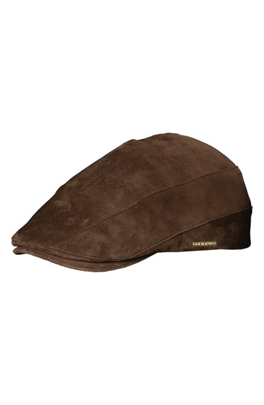 3b3368472ee91c Stetson Suede Driving Cap in Brown for Men - Lyst