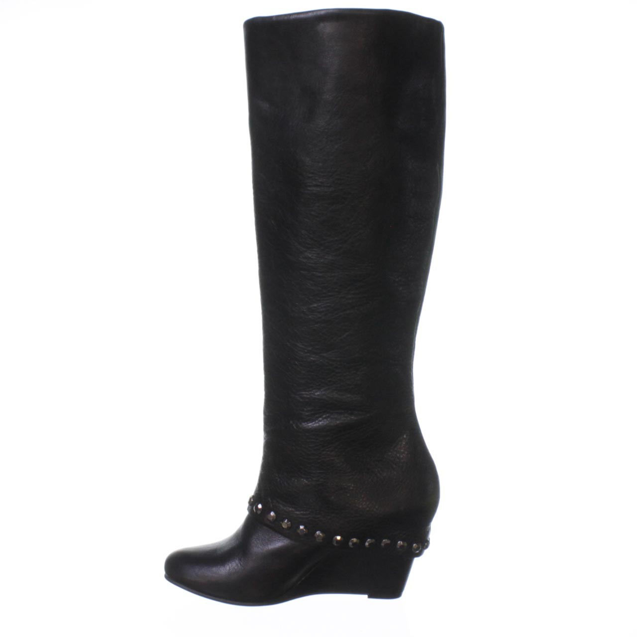 bcbgeneration walla wedge boot in black lyst