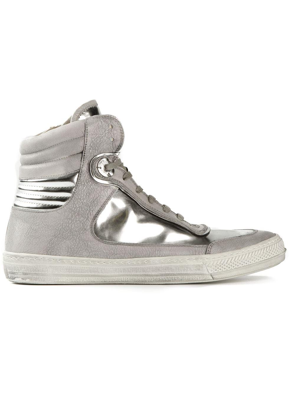 c411a865613d Lyst - Diesel Black Gold Metallic Hi-Top Sneakers in Metallic for Men