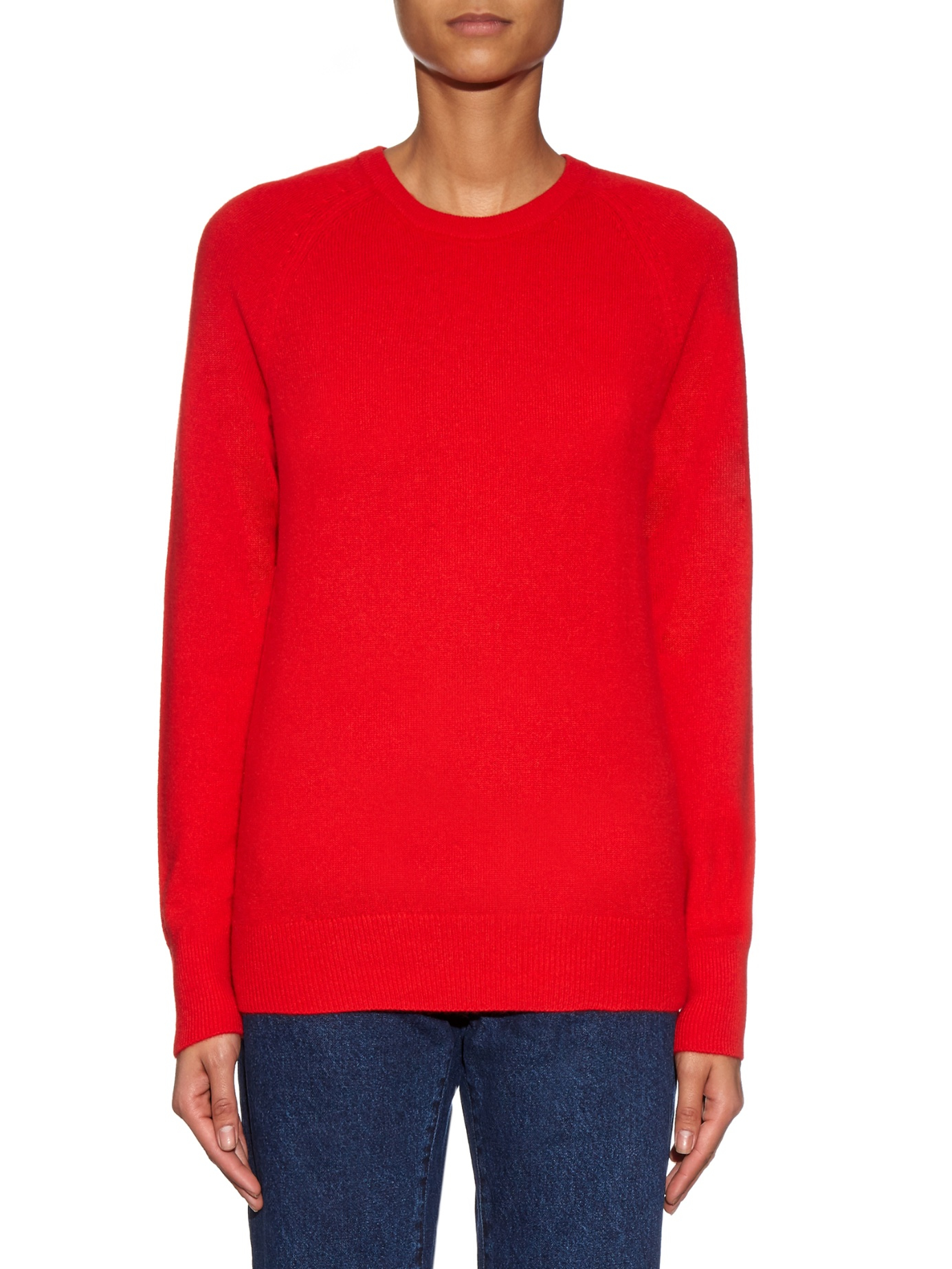 Equipment Sloane Cashmere Sweater in Red | Lyst