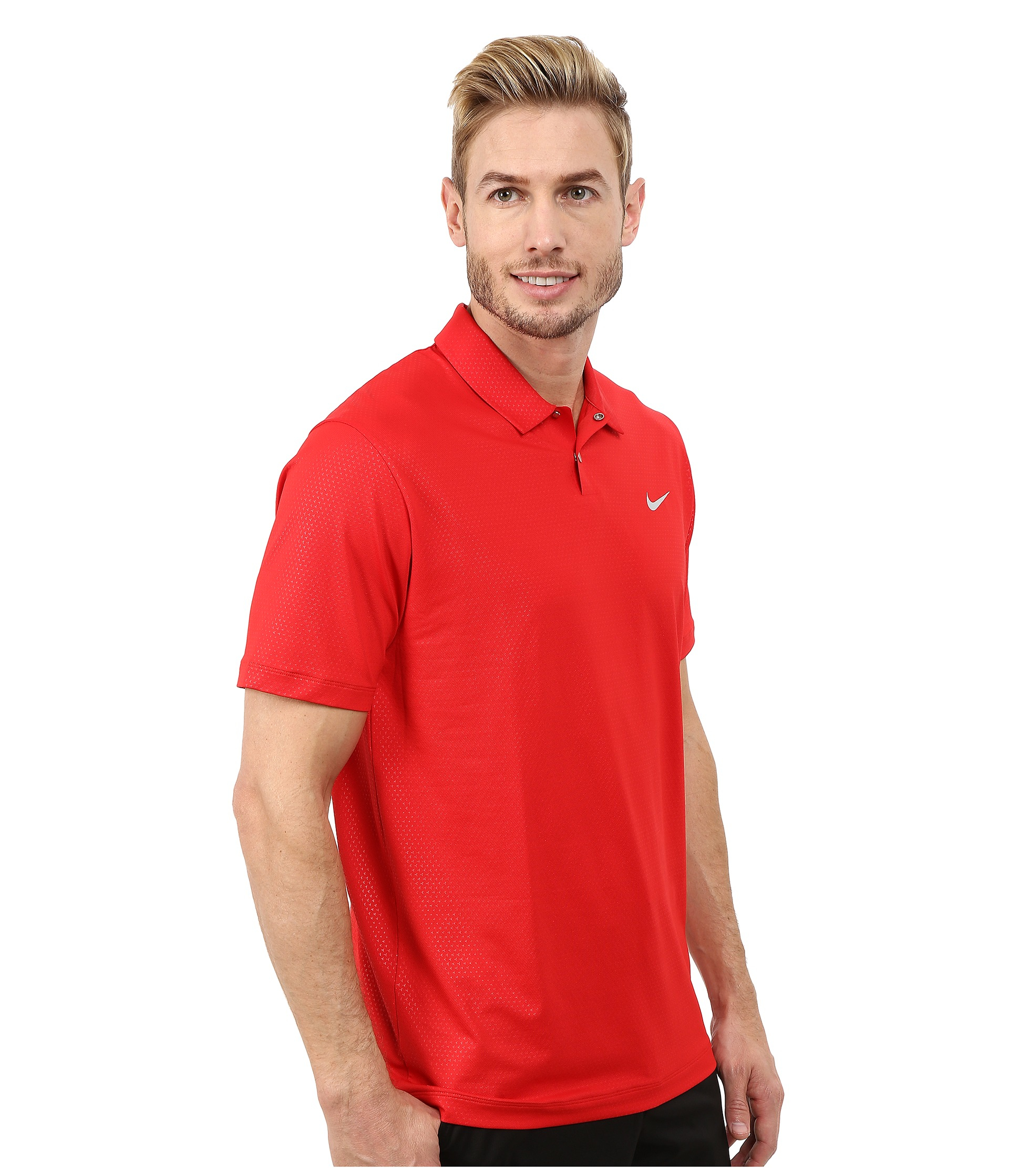 1df1f1970a Nike Tiger Woods Mobility Camo Embossed Polo Shirt in Red for Men - Lyst