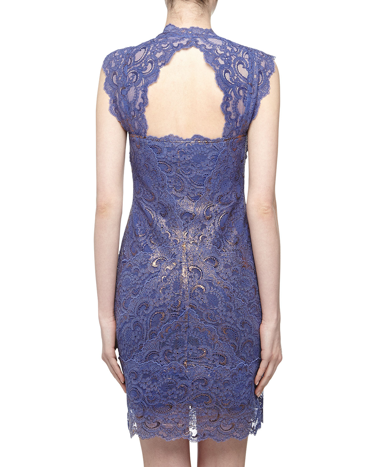 Lyst Nicole Miller Metallic Lace Sweetheart Cocktail