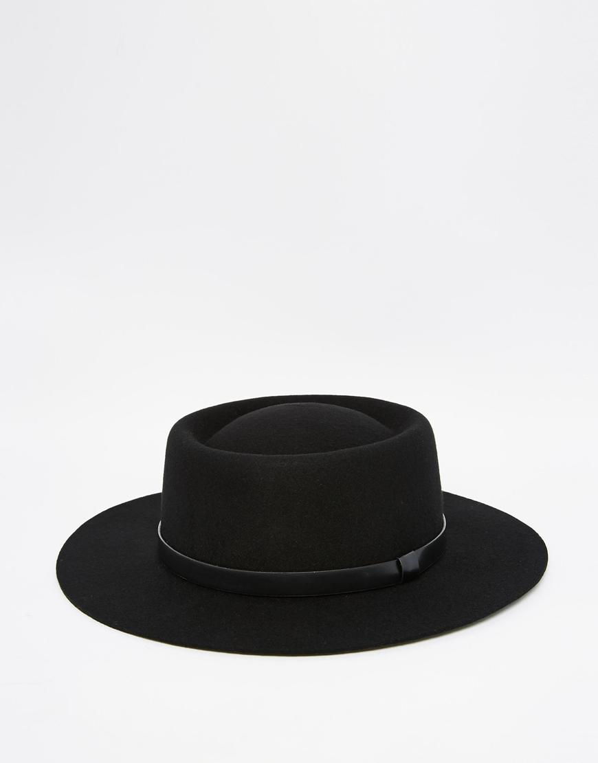5bf05a66ddf Lyst - ASOS Pork Pie Hat In Black With Wide Brim in Black for Men