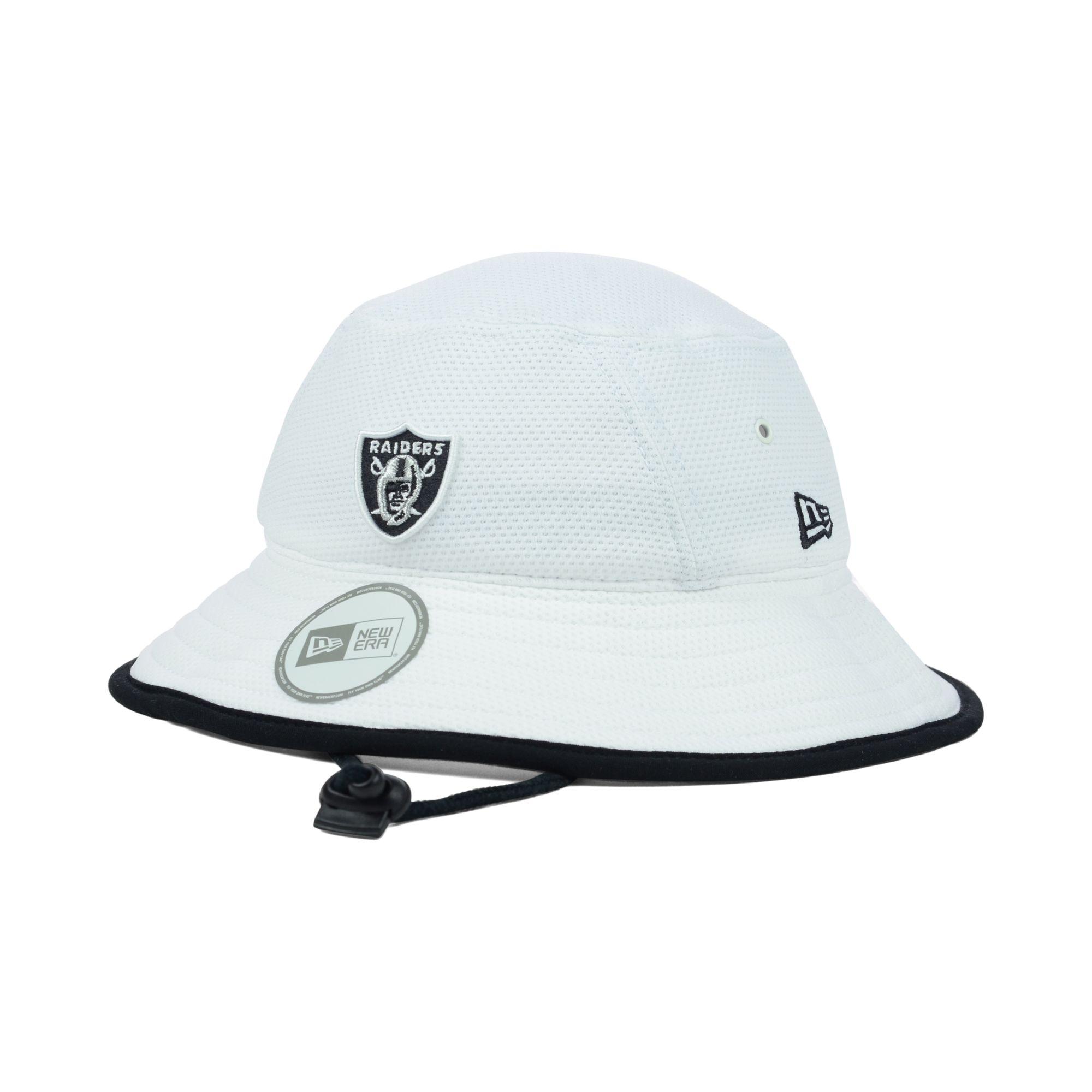 Lyst - KTZ Oakland Raiders Training Camp Bucket Hat in White for Men b31dc1fa353
