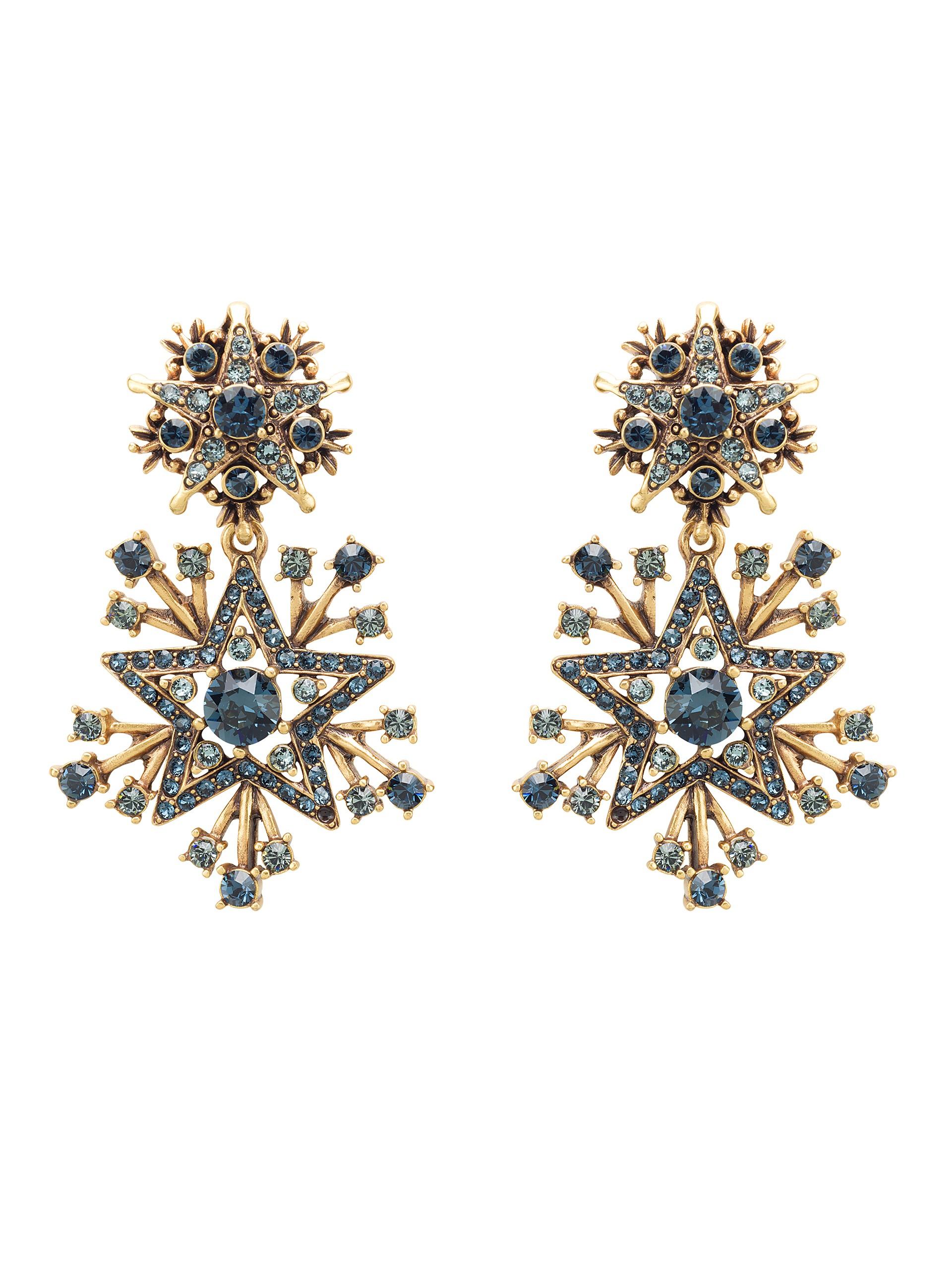 Oscar De La Renta Star Crystal earrings - Metallic 1KK3YFfGqf