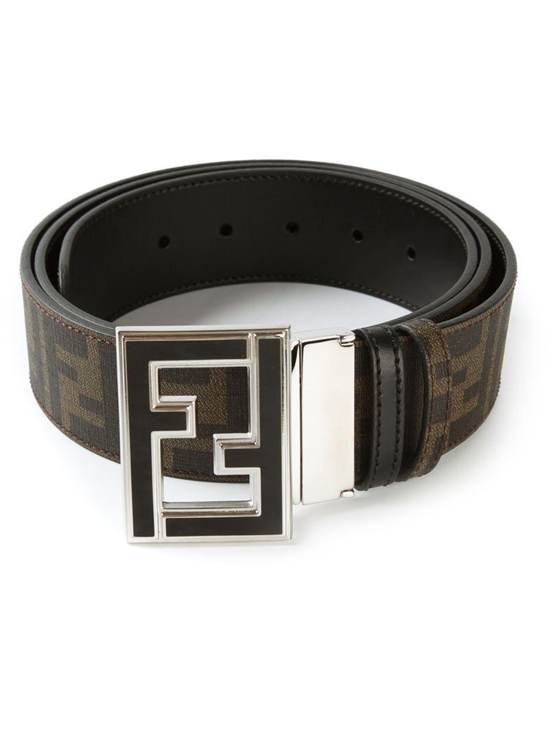 Lyst Fendi College Belt In Black For Men
