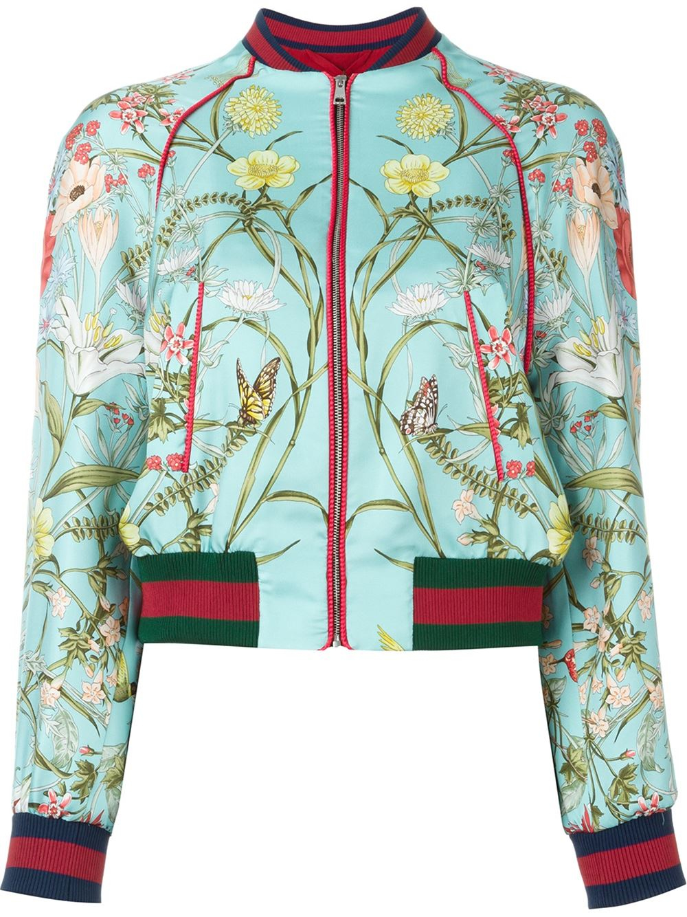 3ec6d5578 Gucci 'acid Bloom' Bomber Jacket in Green - Lyst