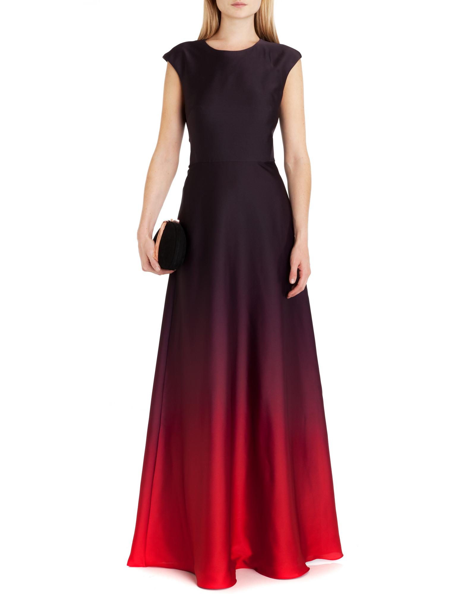 Ted Baker Ombre Maxi Dress In Red Lyst