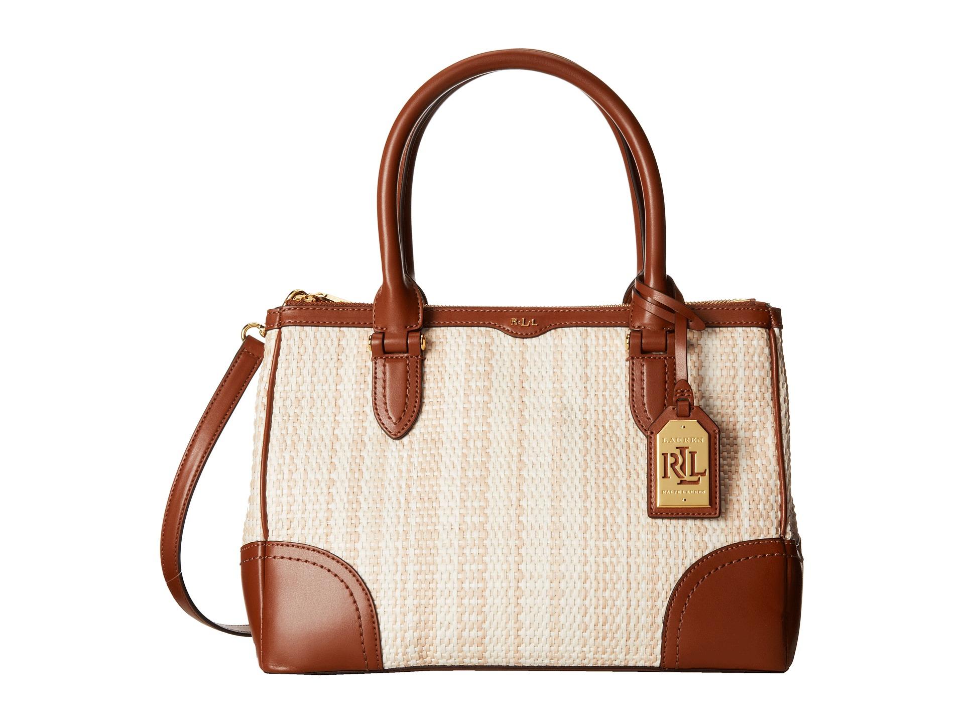 5f64b0f20ea Lyst - Lauren by Ralph Lauren Newbury Straw Double Zip Shopper in ...