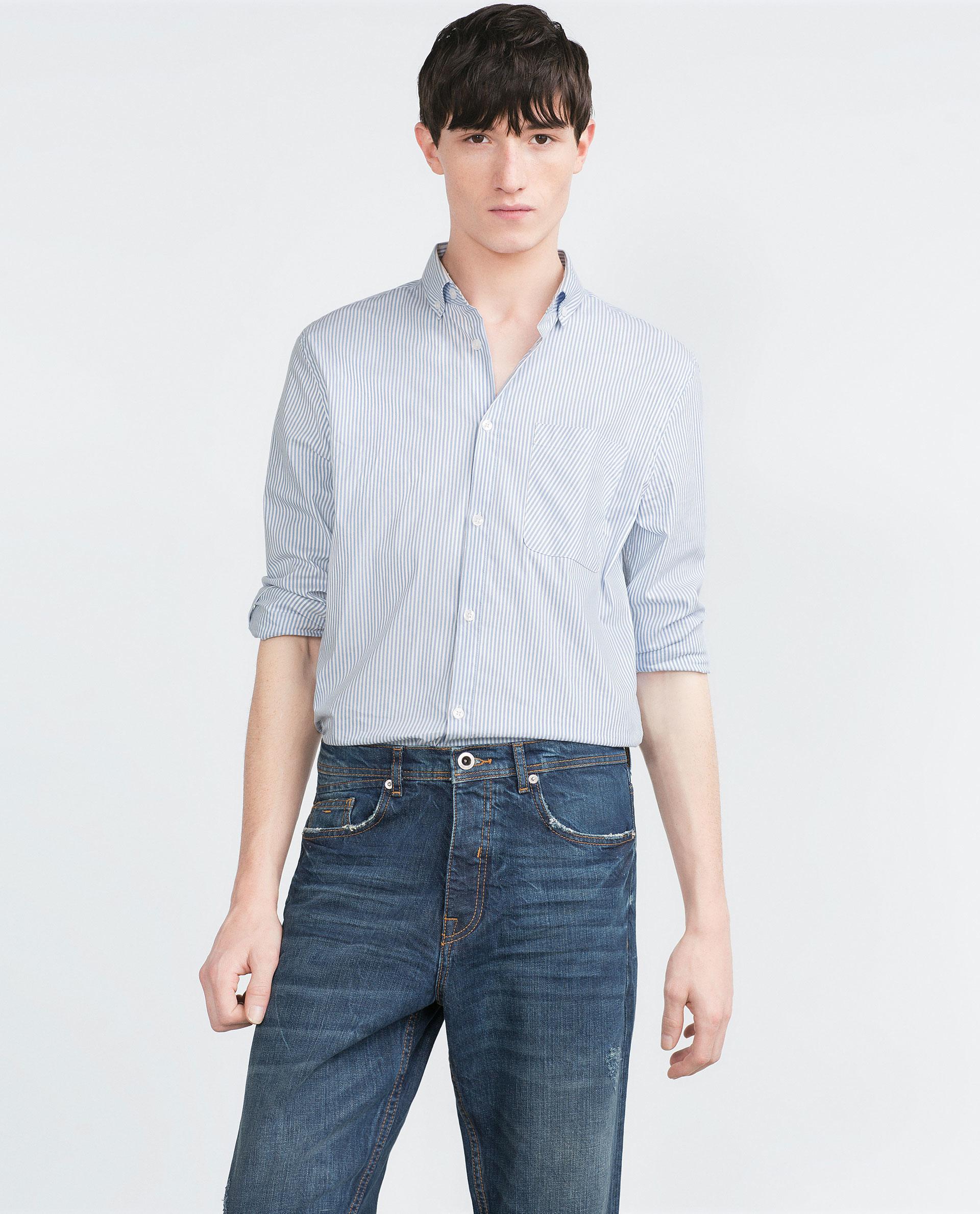 zara new loose fit jeans in blue for men lyst. Black Bedroom Furniture Sets. Home Design Ideas