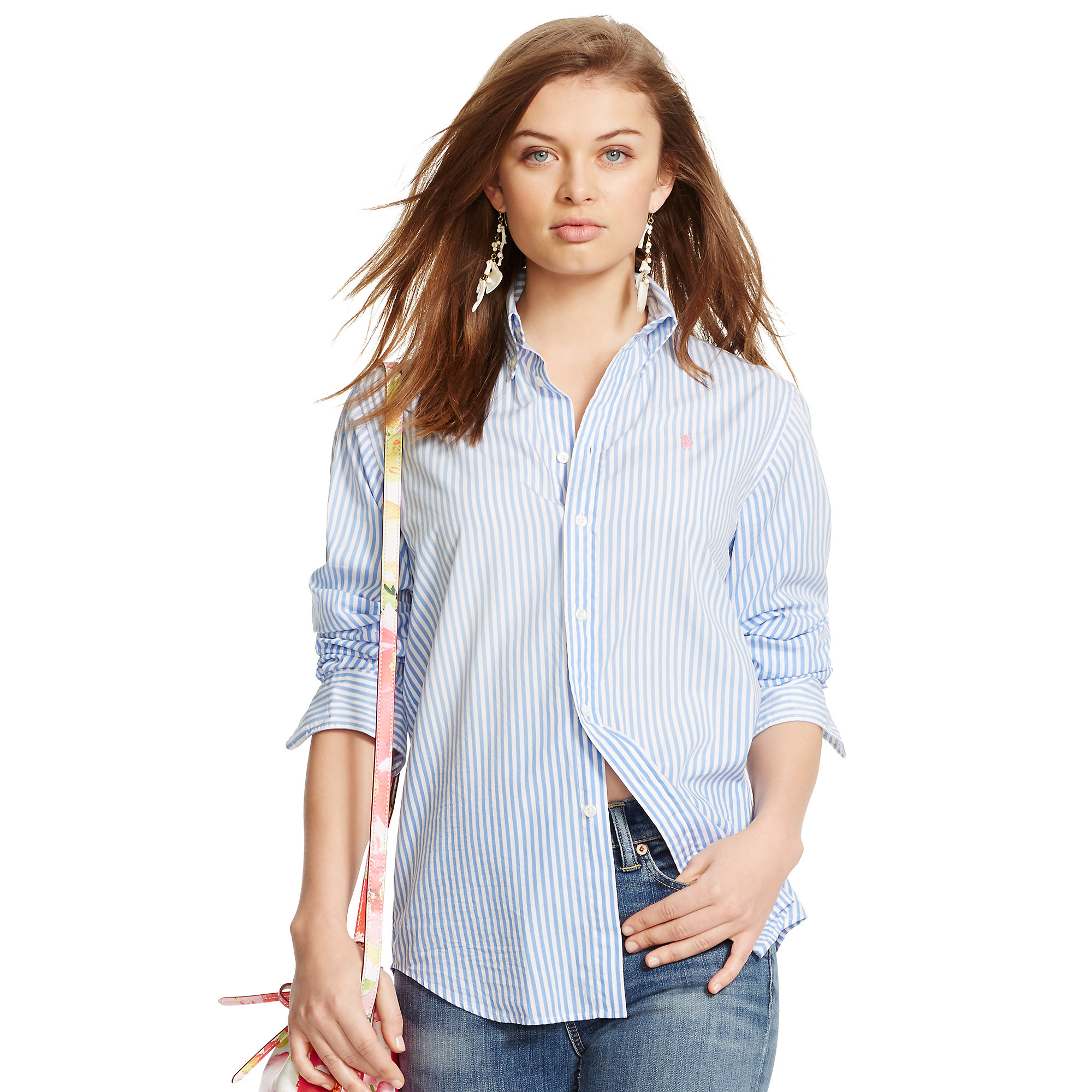bfe29c0a395 Lyst - Polo Ralph Lauren Relaxed-fit Striped Shirt in Blue
