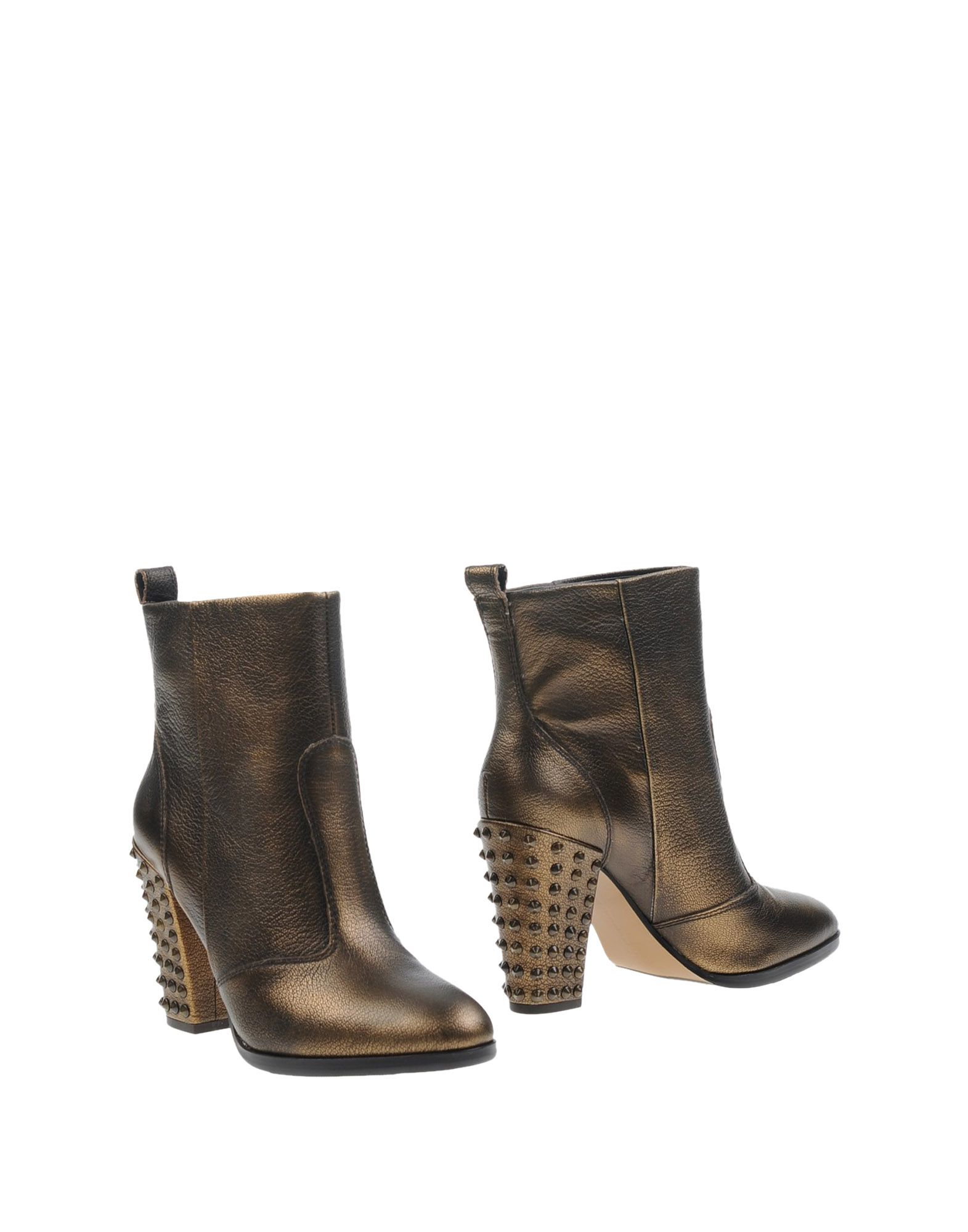 connection ankle boots in metallic lyst