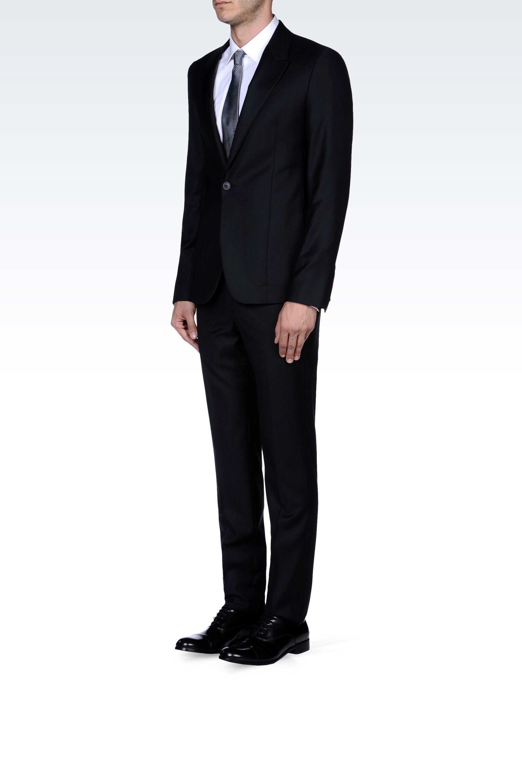 Emporio armani Supreme Pinstripe Suit in Virgin Wool in ...