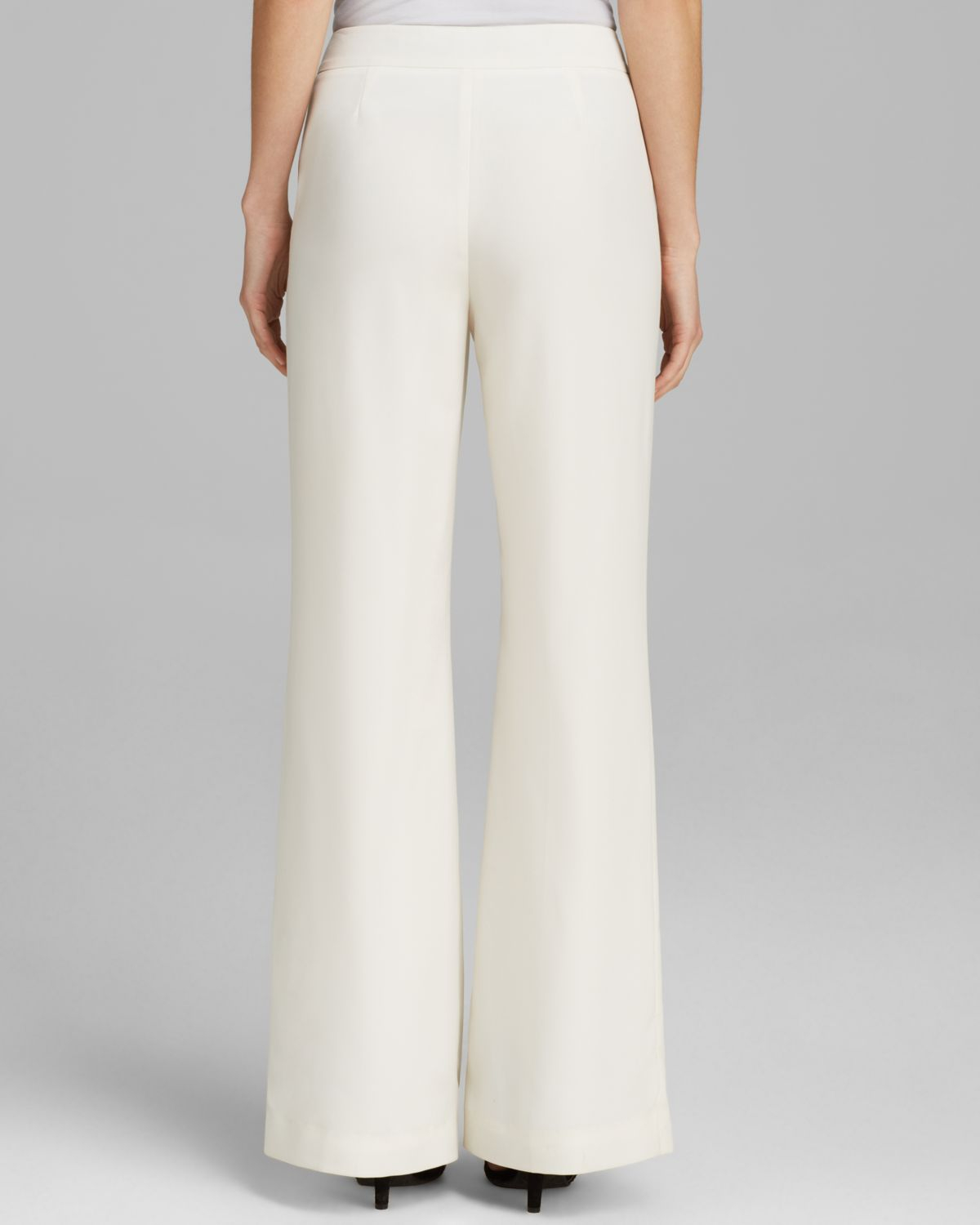 Vince Camuto Wide Leg Pants In White Lyst