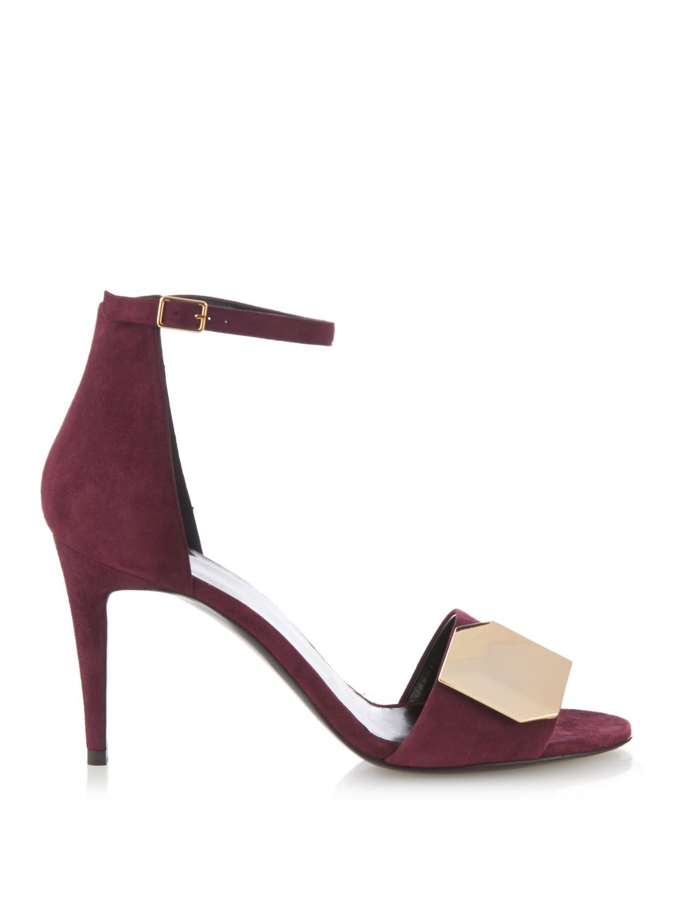 Pierre Hardy Burgundy Cloth Heels IK4Wb5Yry