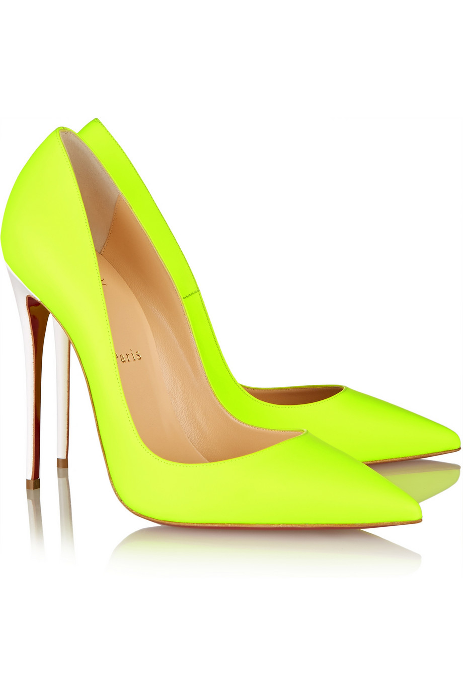fcb81f187b0 Lyst - Christian Louboutin So Kate 120 Neon Leather Pumps in Yellow
