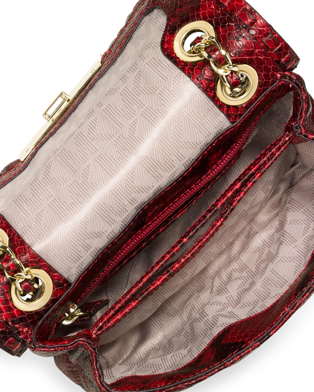 dbf8db1e4c97 Michael Kors Red Snakeskin Handbag - Best Handbag In 2018