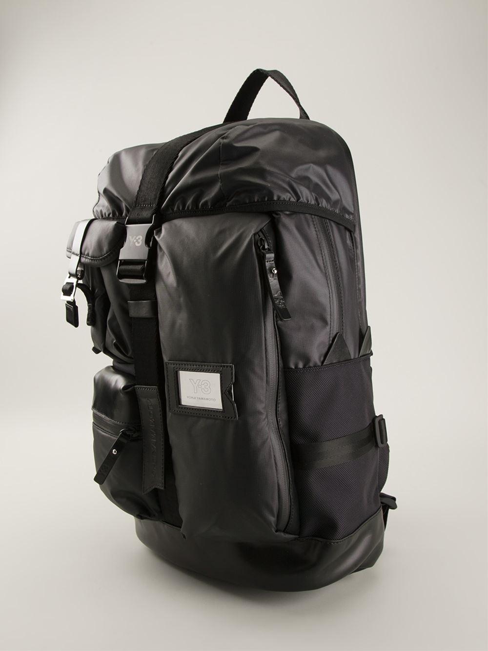 Y-3  mobility  Backpack in Black for Men - Lyst 145ff80393c6f