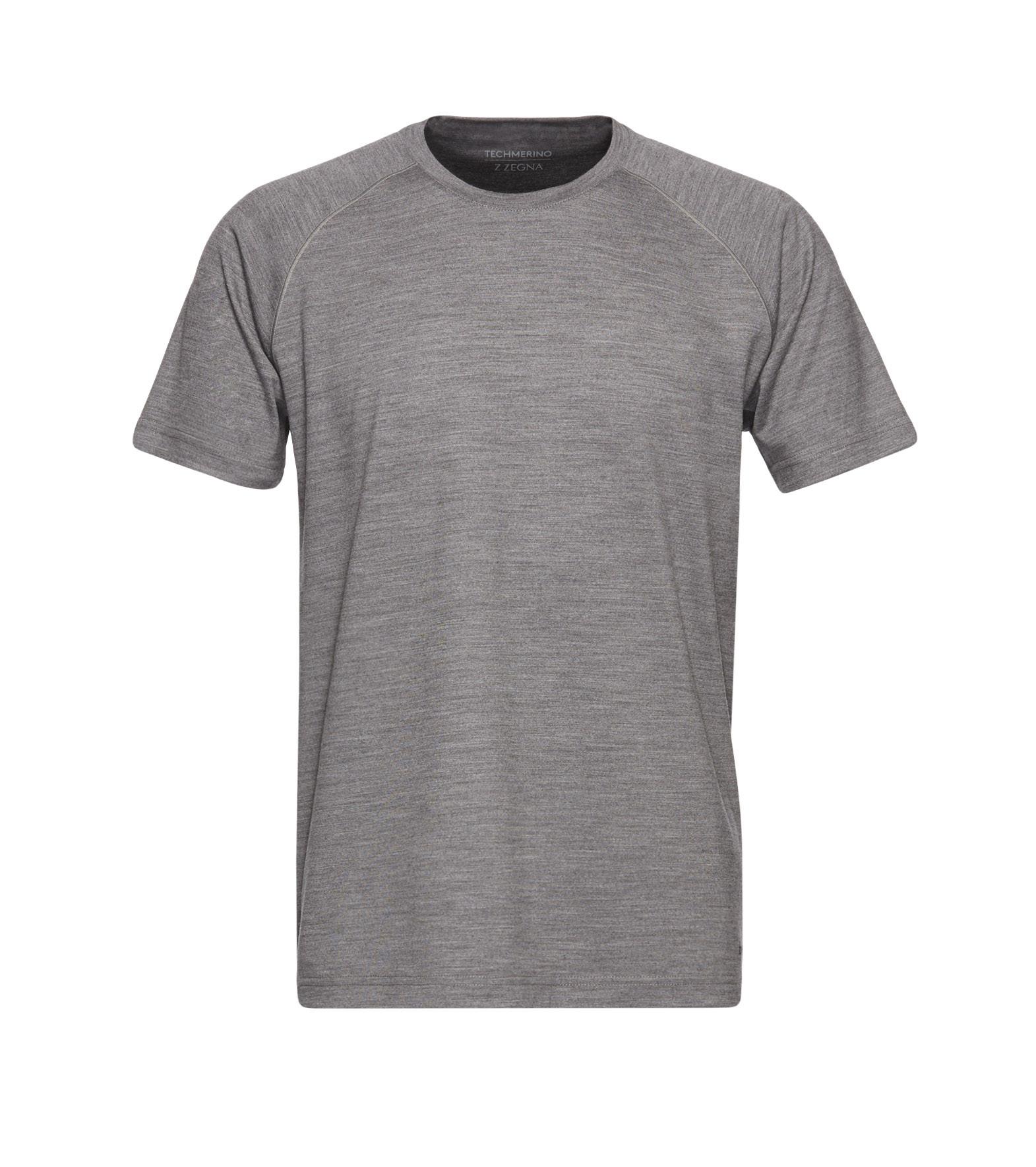 ermenegildo zegna gray techmerino t shirt for men lyst. Black Bedroom Furniture Sets. Home Design Ideas