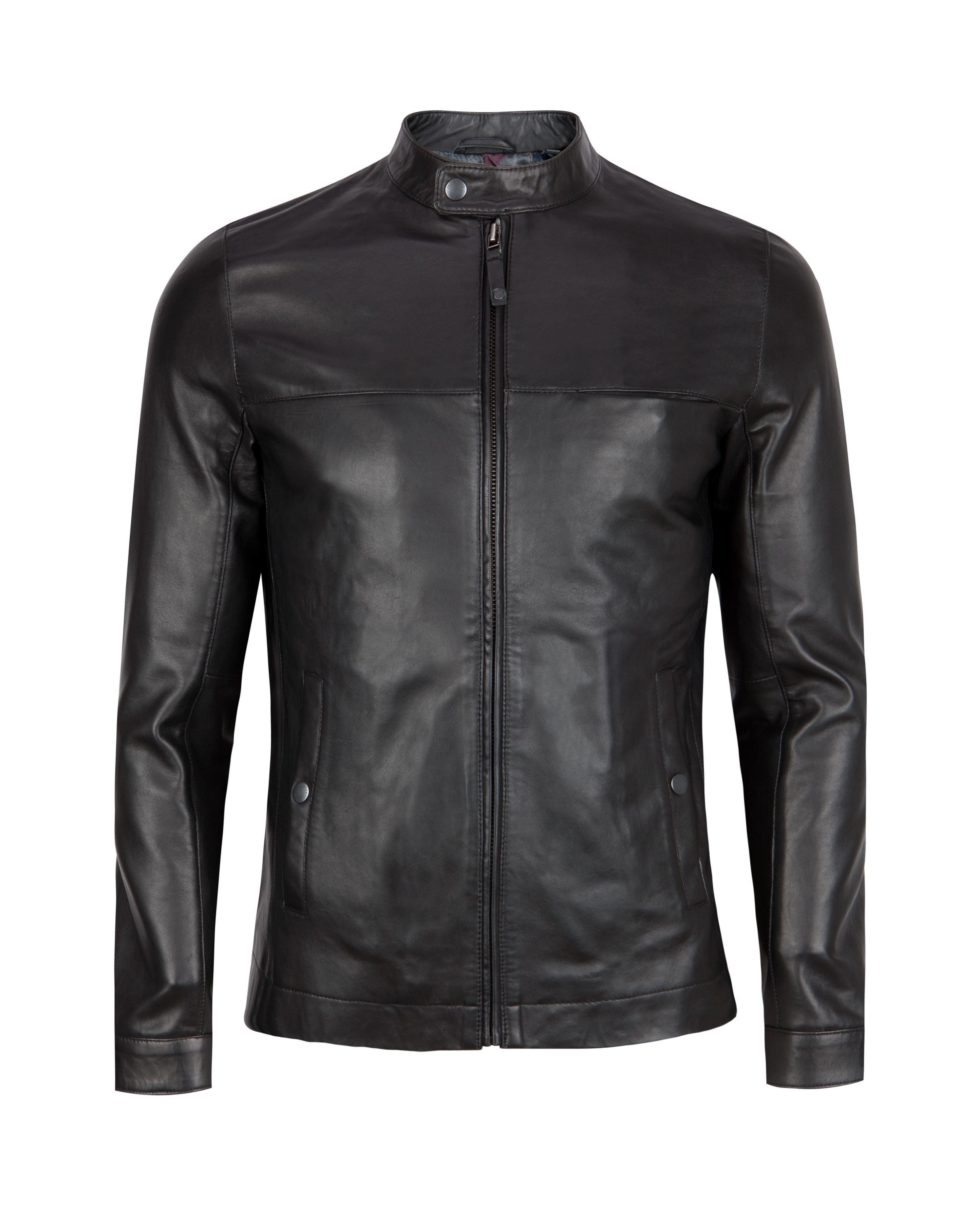 Ted baker mens leather jacket