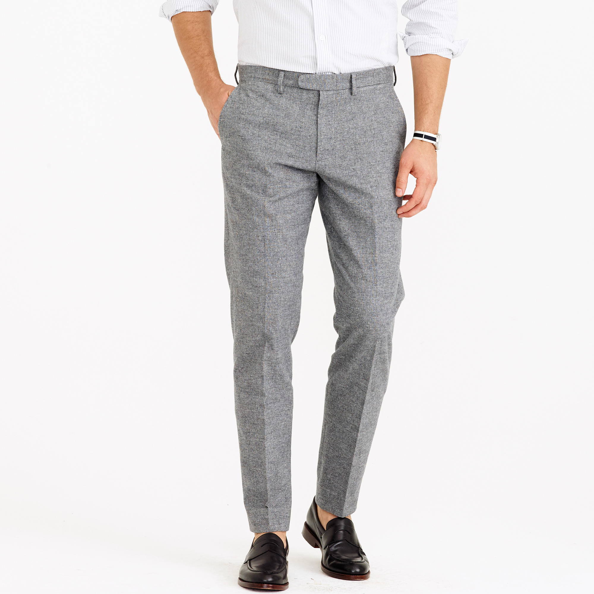 5b64c128ee1 Lyst - J.Crew Bowery Slim Pant In Brushed Glen Plaid in Gray for Men