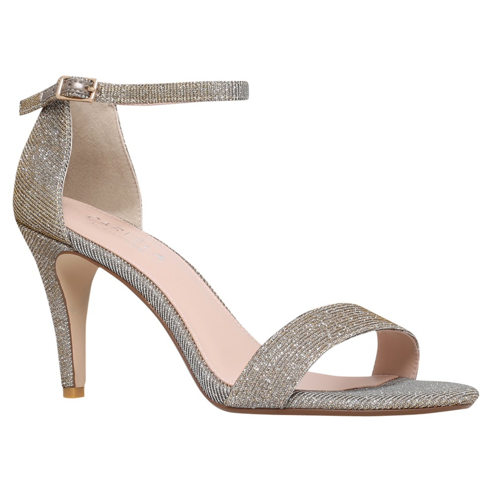 1d56f0c494 Carvela Kurt Geiger Kiwi Barely There High Heel Sandals in Metallic ...