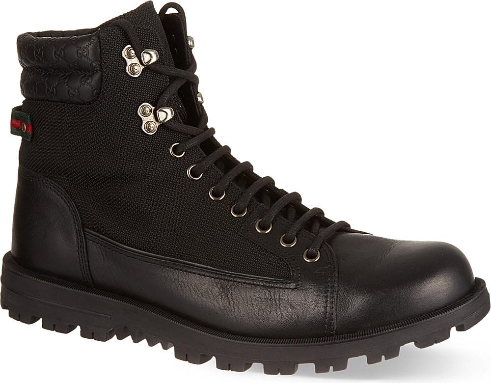 36c286c9d Gucci Meguro Trekking Boots - For Men in Black for Men - Lyst