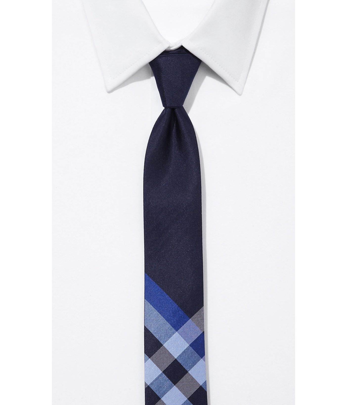 express silk tie 2in1 reversible in blue for lyst