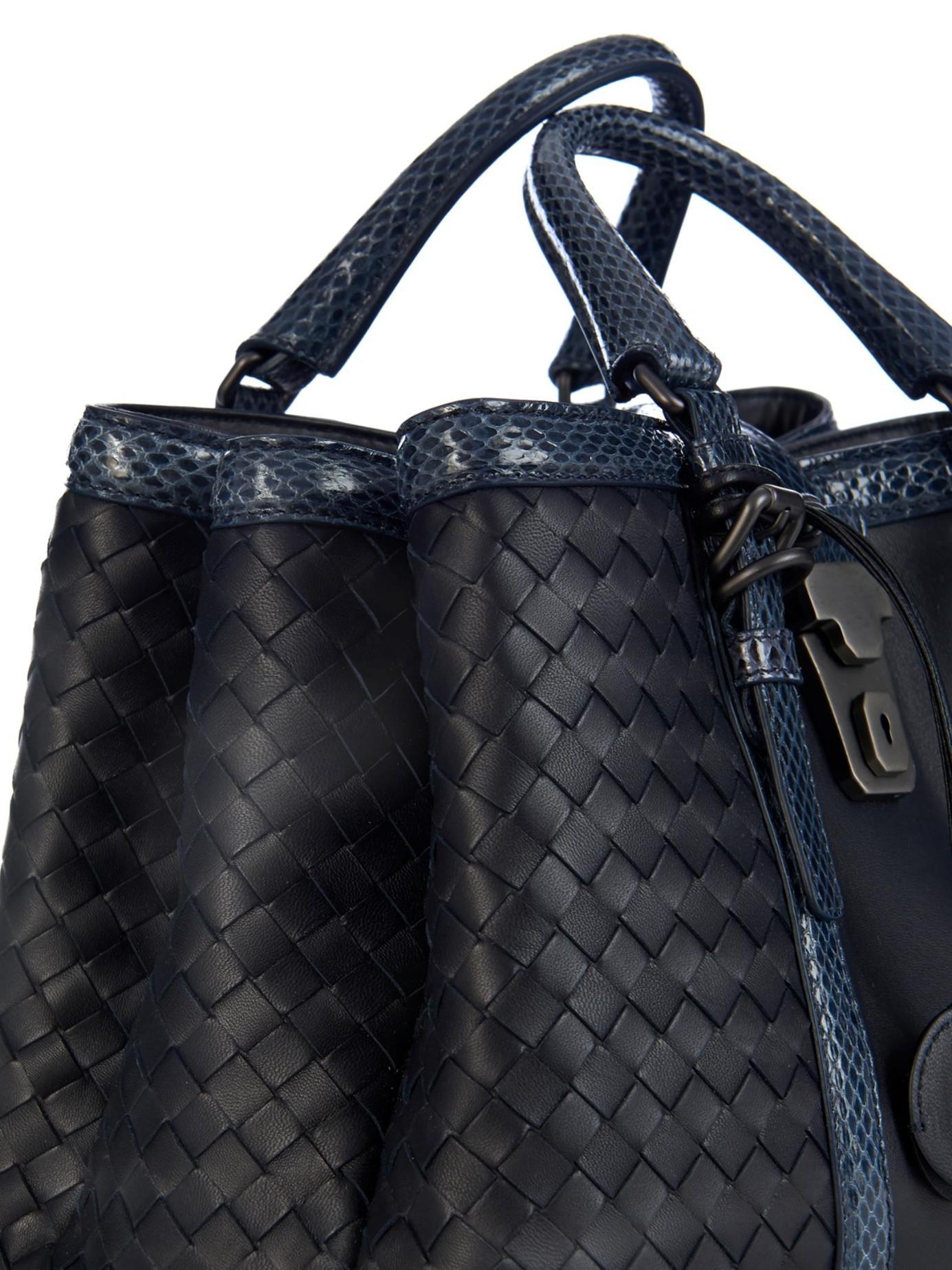 Bottega Veneta Roma Large Intrecciato Leather Tote