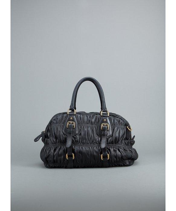 ... low price lyst prada preowned black nappa gaufre doctors bag in black  88218 c041e 99262c6fc7ed9