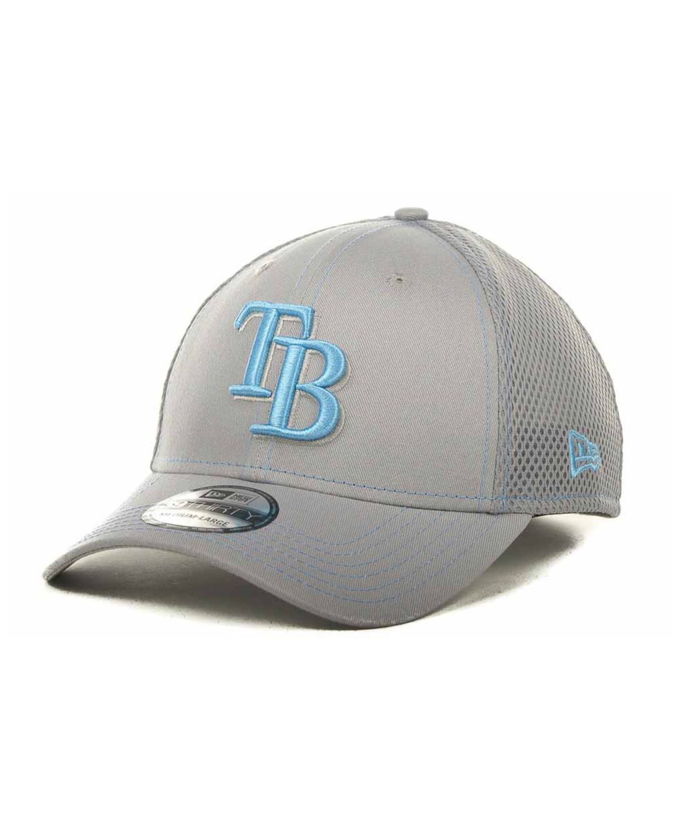 newest caa17 ac9bc KTZ Tampa Bay Rays Mlb Gray Neo 39thirty Cap in Gray for Men - Lyst