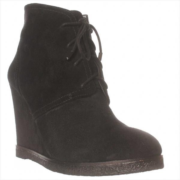 vince camuto landas leather studded ankle boots in black