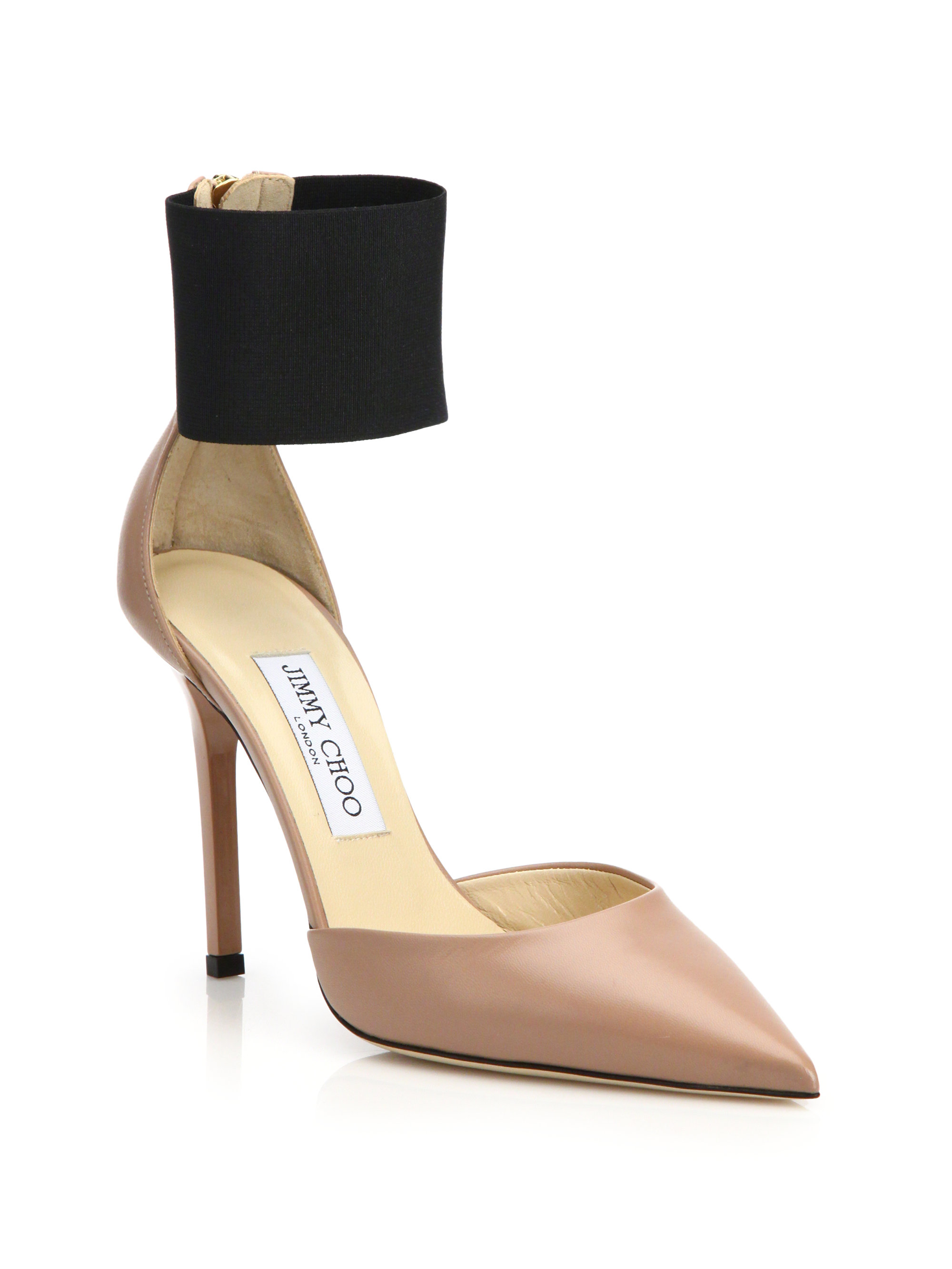 Jimmy Choo Trinny 100 Leather Pumps In Pink