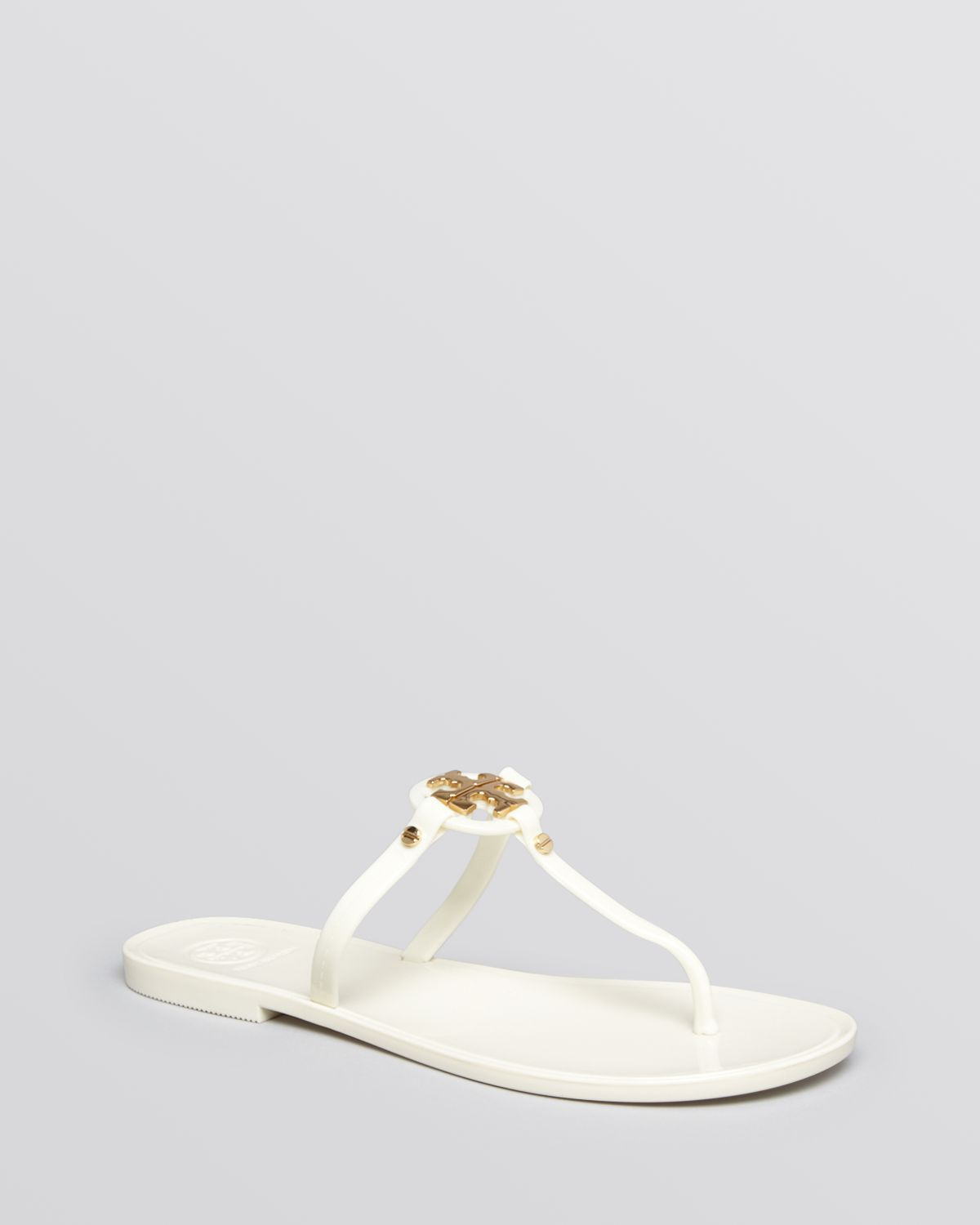 4c69bf8456f2 ... discount tory burch flat thong sandals mini miller jelly in white lyst  90399 c53c2 ...