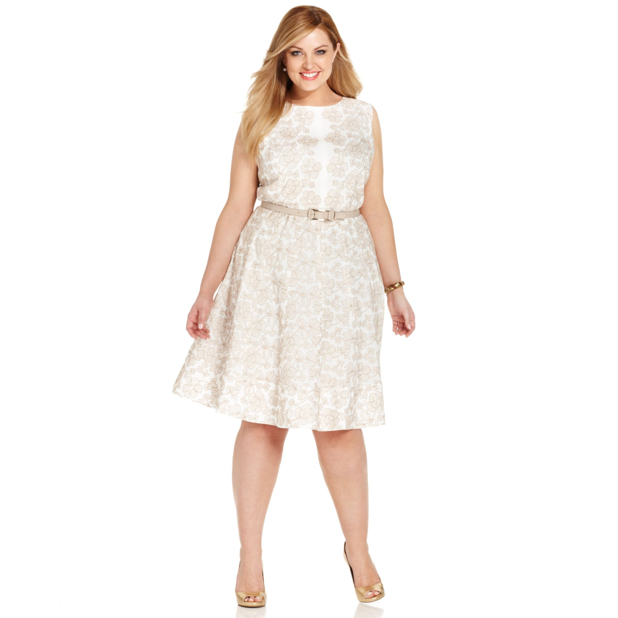 Lyst Anne Klein Plus Size Floral Embroidered Cotton