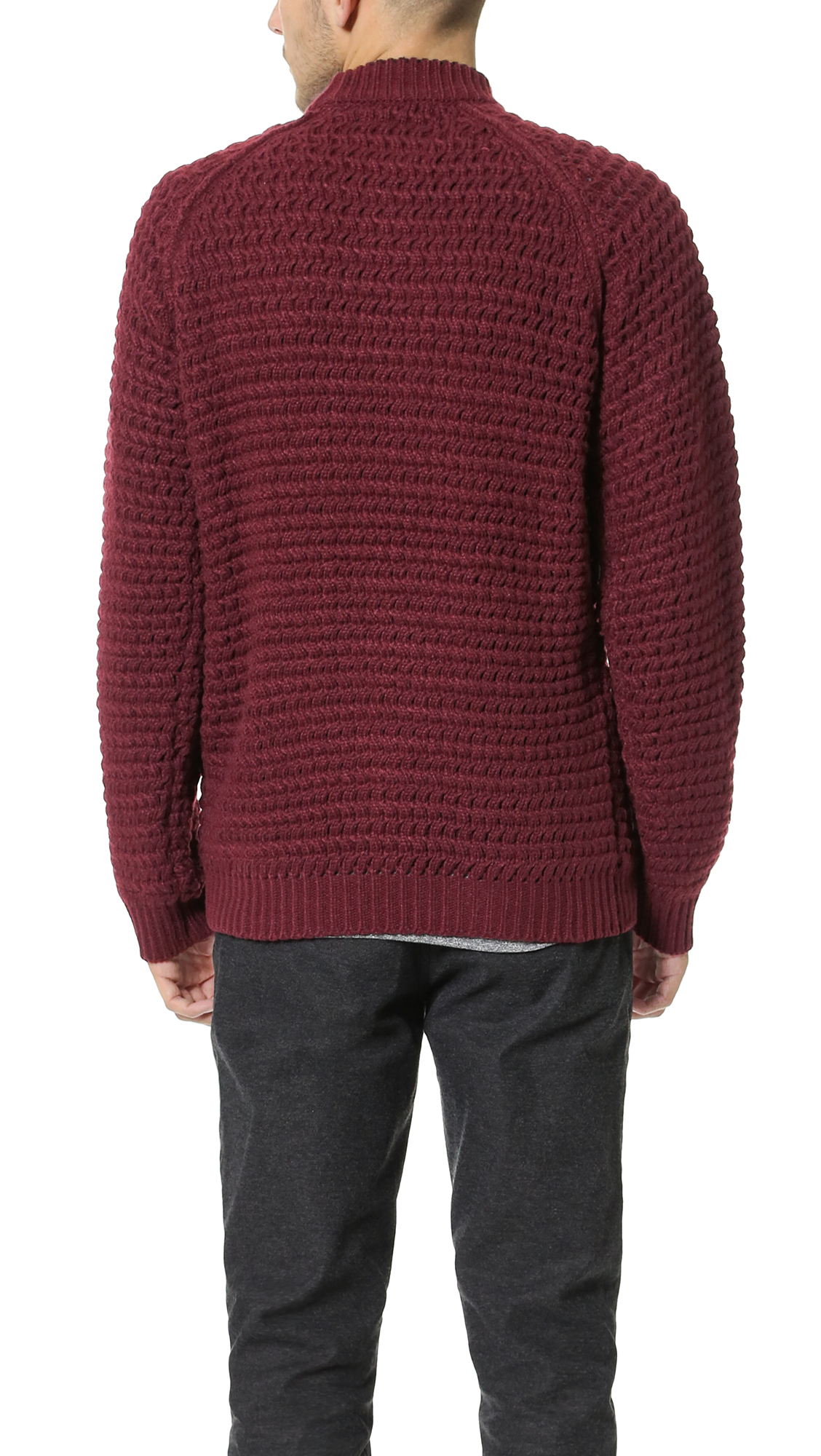 Stitch Knitted Sweater Together : Native youth Oversize Stitch Tipping Knit Sweater in Purple for Men Lyst