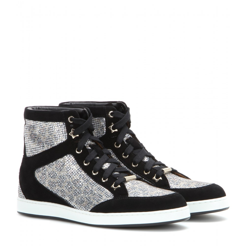 Jimmy Choo Black May London High-Top Sneakers BI597oAl
