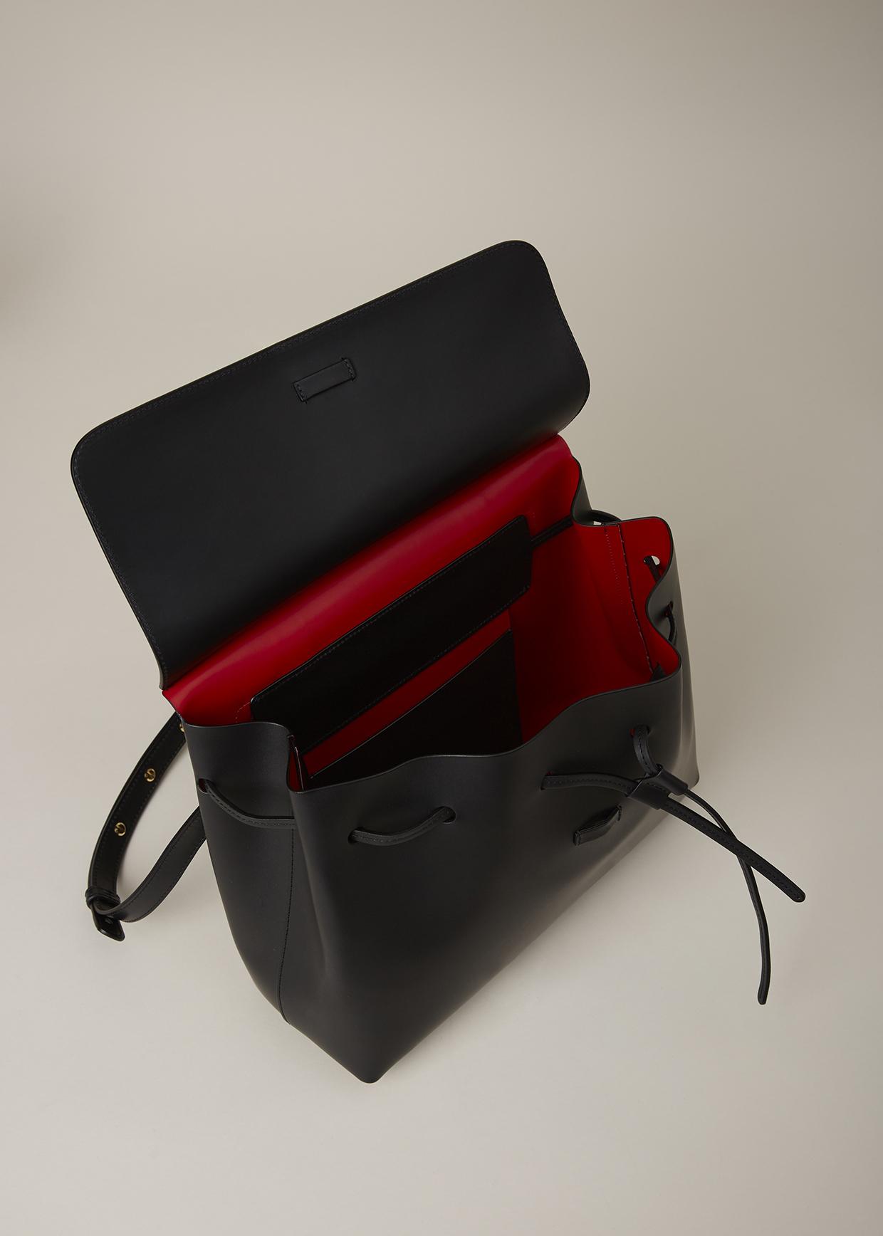 31142d1d8398 Lyst - Mansur Gavriel Black flamma Mini Lady Bag in Black