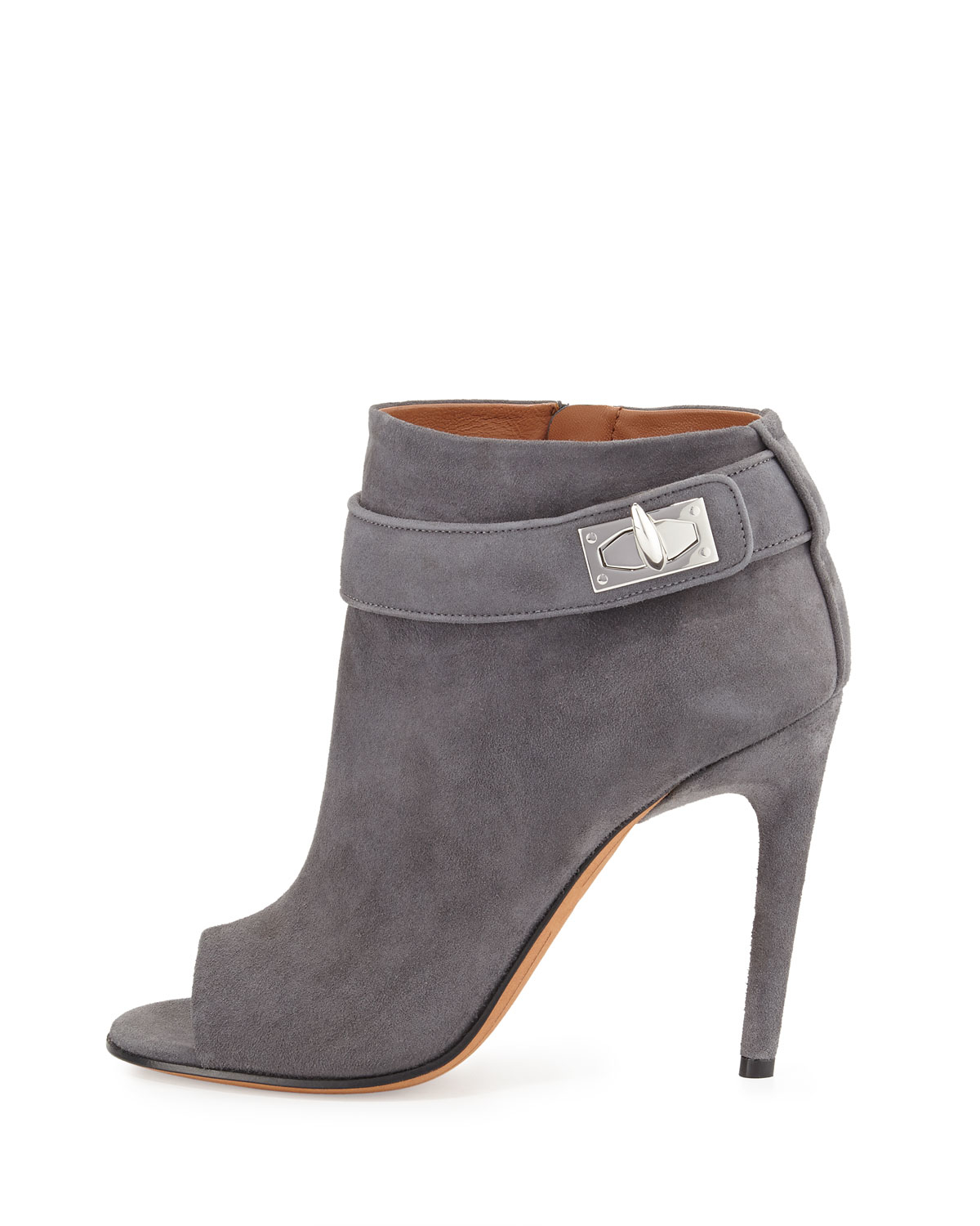 Givenchy Suede Peep-Toe Booties free shipping from china official sale online great deals online free shipping 100% guaranteed purchase online 1pSvh1