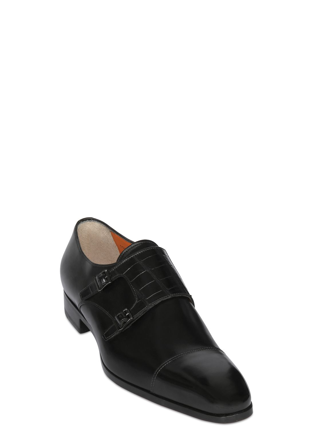 Tassel loafer 15608 calfskin crocodile leather blue Santoni Discount Shop Offer bx6j67aQa