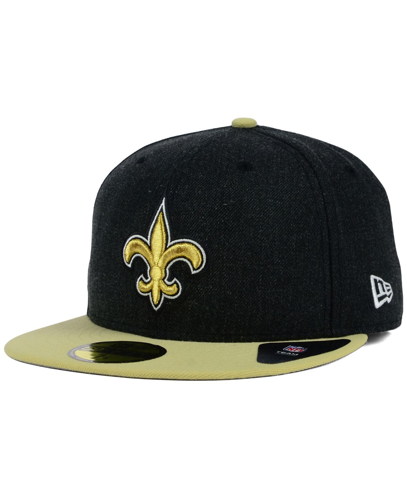 Ktz New Orleans Saints Heather Action 2-tone 59fifty Cap in Black ...