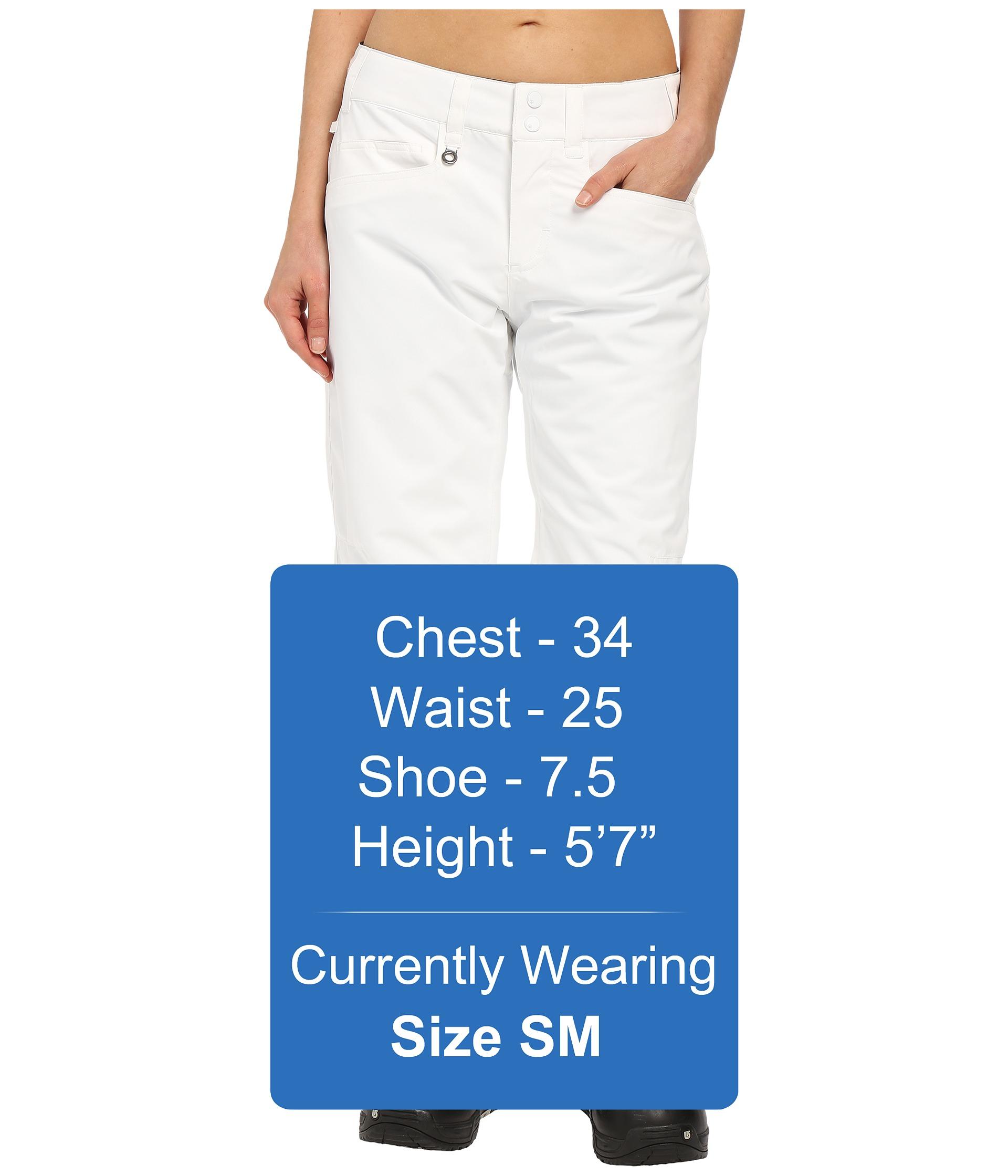roxy backyard snow pants in white lyst