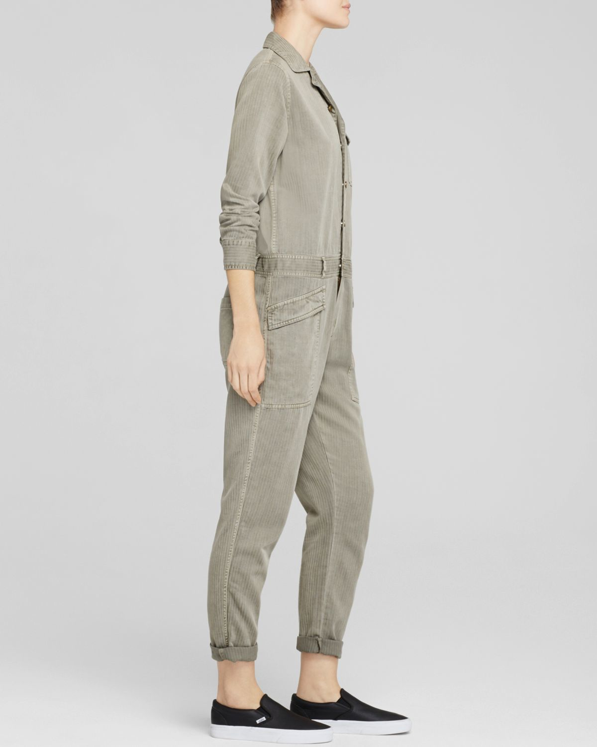 e36710bbcb4e Lyst - Current Elliott The Rosie Coverall Jumpsuit In Forest Field ...
