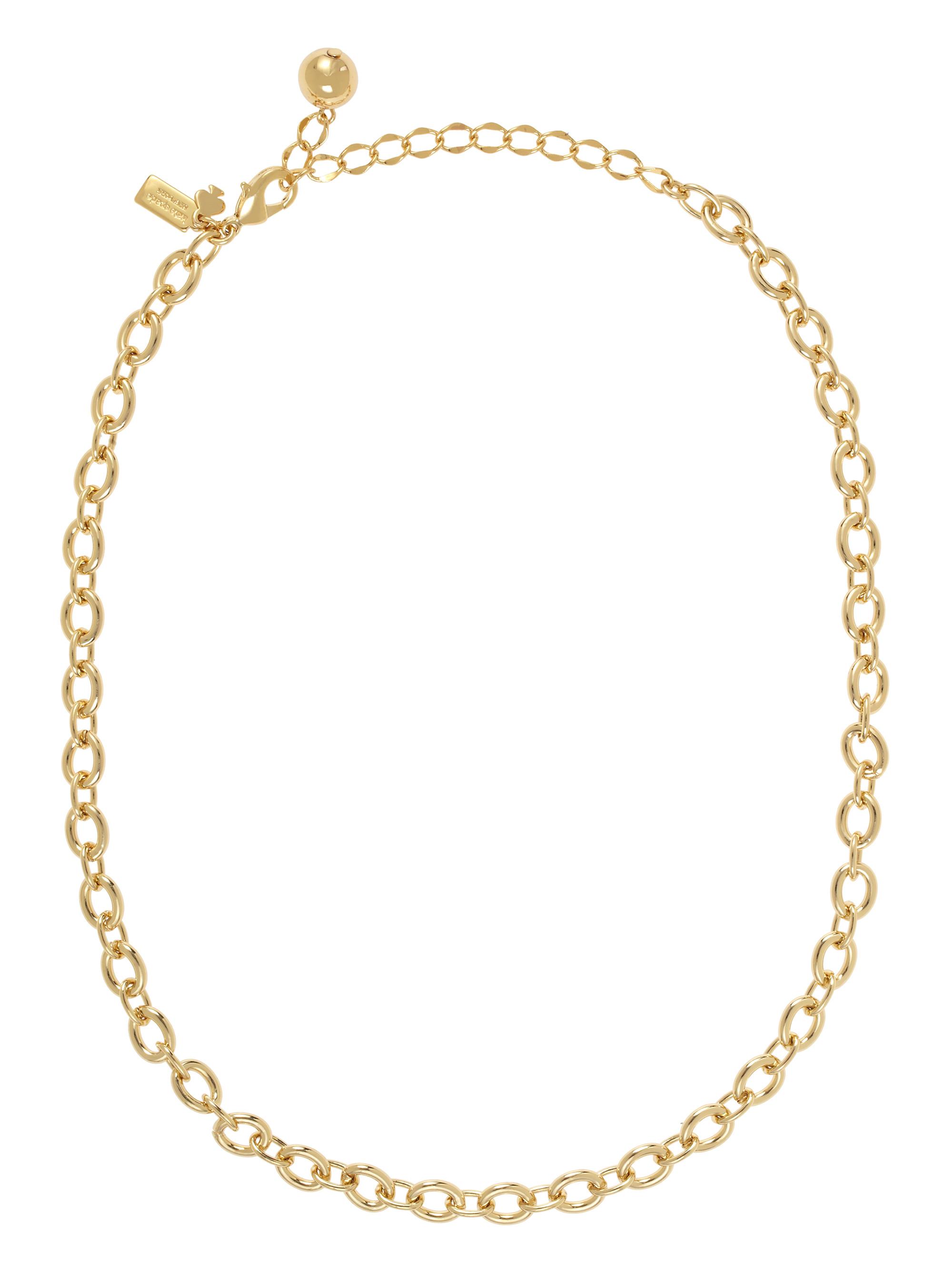 kate spade new york charm link necklace in metallic lyst. Black Bedroom Furniture Sets. Home Design Ideas