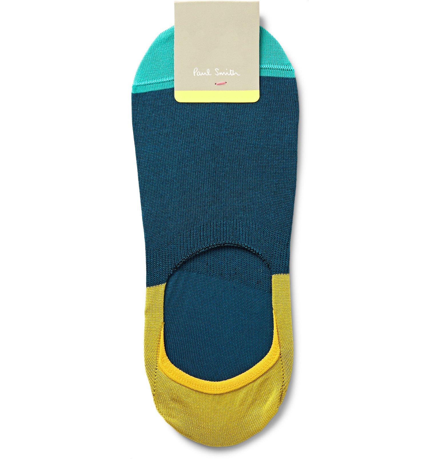 3e7f6dcfb00 Paul Smith Colour-block Cotton-blend No-show Socks in Blue for Men ...