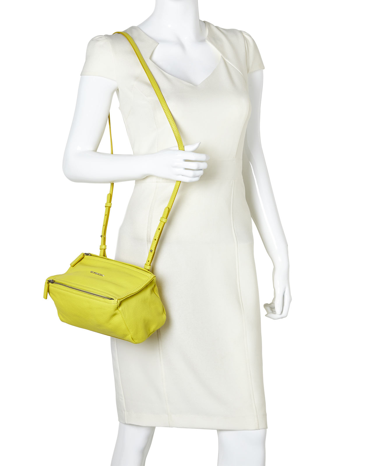 cb0aa002ad5 Lyst - Givenchy Yellow Pandora Mini Shoulder Bag in Yellow