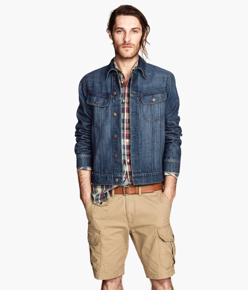 Lyst - Hu0026m Denim Jacket in Blue for Men