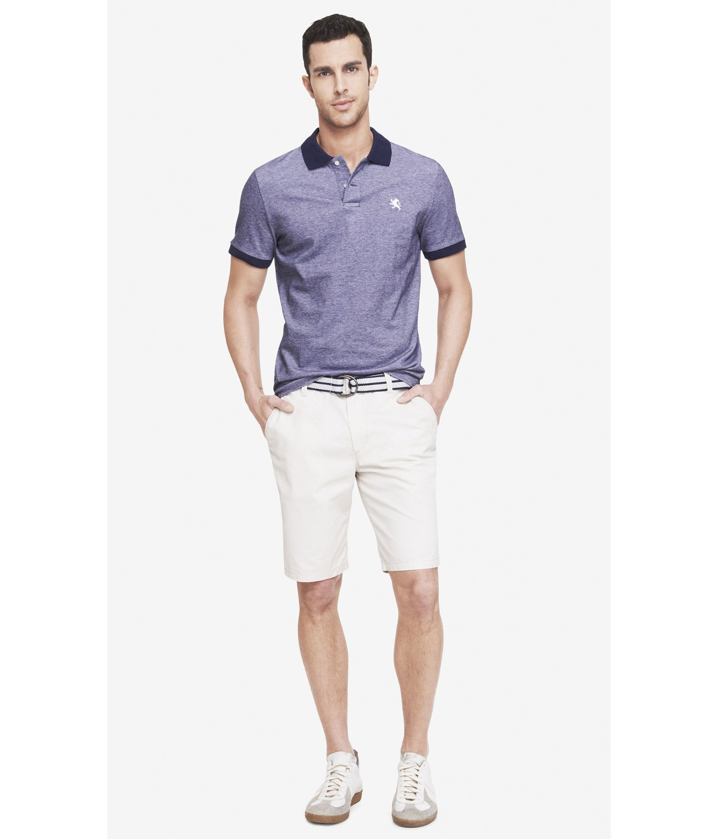 9cb2309354 Lyst - Express 10 Inch Belted Lennox Shorts in Natural for Men